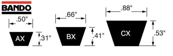 ремень AX, BX, CX