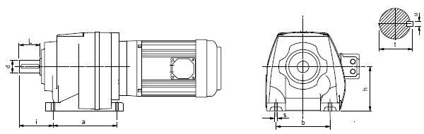 мотор-редуктор соосный