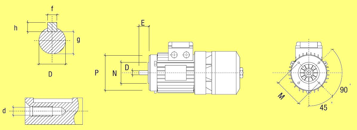 электродвигатель с фланцем