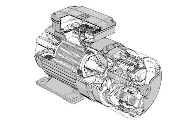 электромотор с электромагнитным тормозом