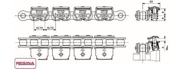 Роликовые переходы для конвейеров транспортер в оранжевом списке